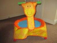 Baby bouncer trampoline with sound