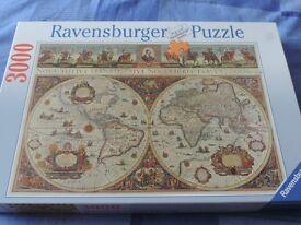 Ravensburger 3,000 piece Jigswa of old world map
