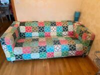 Limited edition Ikea patchwork 3 seater sofa