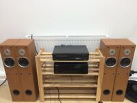 Technics SL-PG420A CD Player with Speakers 100W and Wooden Stand