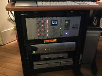 SSL XLogic X-Rack Super analogue summing mixer and buss compressor with Chassis