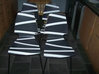 set of 4 modern dinning room chairs