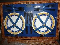 Wickerwork Picnic Basket