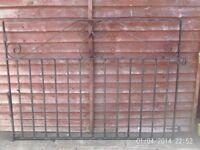 pair wrought iron gates