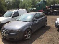 Audi Quattro panel damage