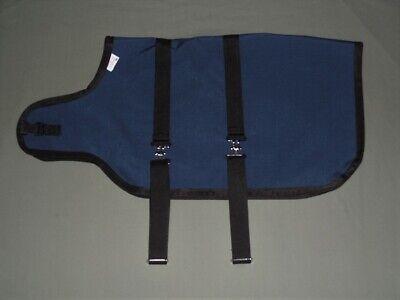 30 Navy Goat Sheep Winter Coat Jacket Blanket 3-ply Polyrayon Lining