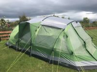 Outwell Nevada XLP 6 Man Tent, matching windbreaker and accessories