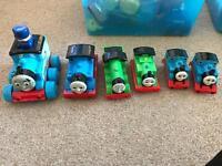 6 x Thomas the tank engine trains