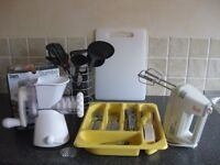 Cutlery, utensils, mincer and mixer