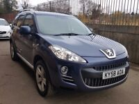 2009 PEUGEOT 4007 2.2 HDI GT 4X4 7 SEATER LEATHER SATNAV SH FREELANDER CRV OUTLANDER 3008 5008 CR-V