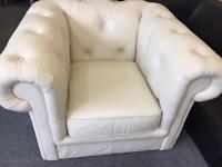Chesterfield Arm Chair Cream