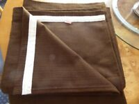 PAIR OF CHOCOLATE BROWN CURTAINS - LIKE NEW
