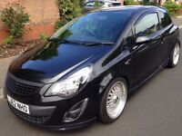 VAUXHALL CORSA BLACK EDITION 1.4T VXR INTERIOR, LOWERED & CUSTOM SOUND SYSTEM + 12 MONTHS WARRANTY