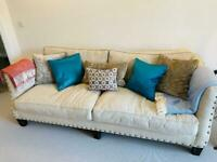 Sofa and cushions