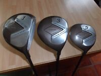"Men's "" North-Western "" Titanium Driver, 3 and 5 fairway wood's,"