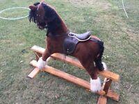 Mamas and papas large rocking horse wooden