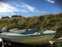 Boat. Fibreglass 5 x 2 m