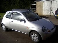 FORD KA 2. 1-3 COLLECTION 2000 W REG. ONLY 53,000 MILES FROM NEW. FULL SERVICE HISTORY (13 STAMPS!)