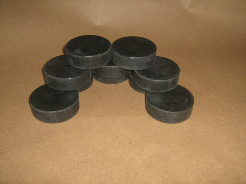 Black Practice Regulation 5.6oz. Hockey Pucks Lot of 10