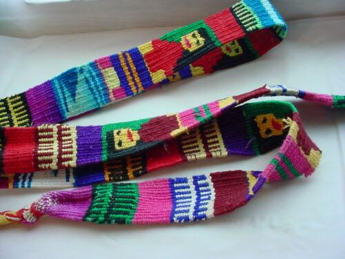 South American Belt Woven Handmade Waist Tie Vtg
