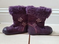 Clarks Baby Girls Winter Boots 5.5 F UK Infant