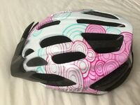 Specialised cycle helmet girl lady pink white