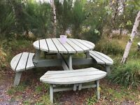 Solid Heavy Duty Wood Picnic Table