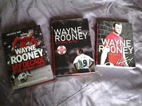 3 books on WAYNE ROONEY.