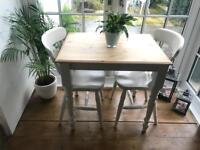 Laura Ashley painted, small dining table and chairs
