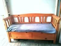 Beautiful pine bench with storage