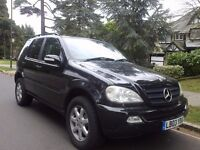 2003 MERCEDES BENZ ML 270 CDI AUTO BLACK LOW MILAGE VERY CLEAN