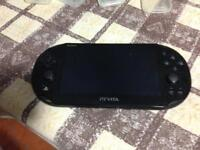 Ps vita, charger, case and games