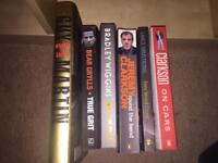 Selection of men's books including Clarkson, Bear Grylls and Guy Martin
