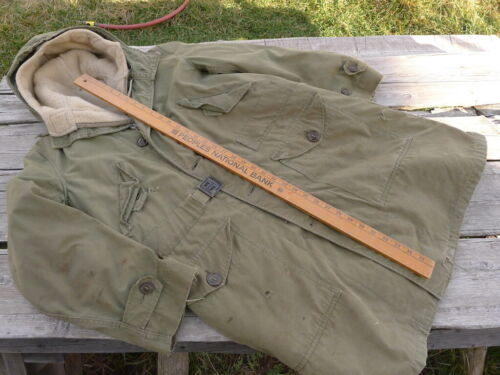 Korean War M1947 US Army USAF Parka Overcoat W/ Pile Liner Small, Used/Repaired