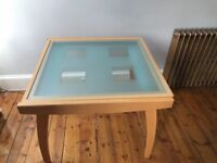 Extendable Glass Topped Dining table