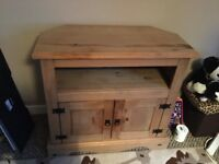 Wooden TV stand and cupboard