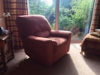 Recliner chair also 2 seater matching sofa