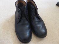 Black M&S men's boots, hardly worn, size 10