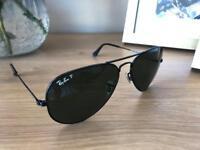 Black Polarised Ray-Ban Aviator Sunglasses