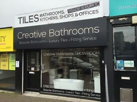 CREATIVE BATHROOMS AND TILE SHOWROOM DUNDONALD, PLUMBER BATHROOM FITTING SERVICE