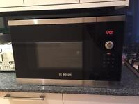 Bosch built in solo microwave stainless steel