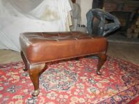 """Footstool. """"Sherborne"""" Chesterfield style."""