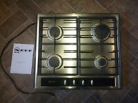 NEFF Integrated Stainless Steel 4 x Burner Gas Hob