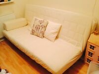 IKEA cream sofa bed for sale