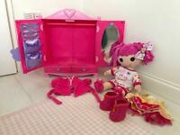 Build-A-Bear La La Loopsy with official wardrobe, dressing gown and outfit