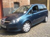 VAUXHALL ZAFIRA 1.6 NEW SHAPE 57 REG *** CHEAP PCO CAR *** 7 SEATER FAMILY MPV *** 5 DOOR HATCHBACK