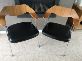 Retro dining chairs x 2