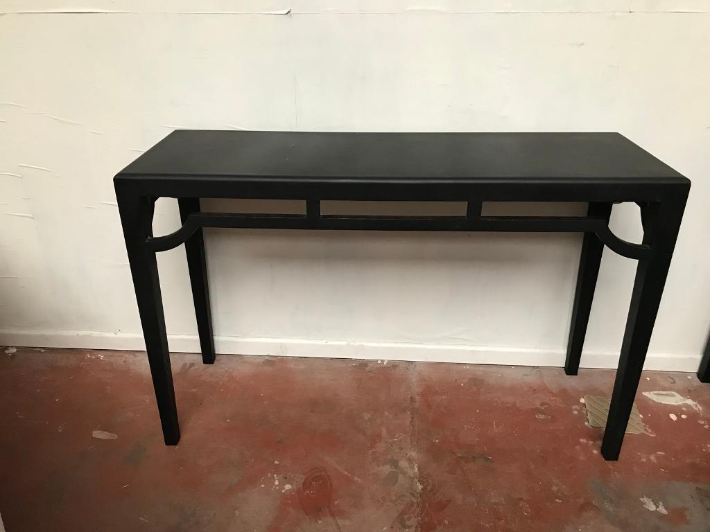 Lovely black consul / tv table/ desk