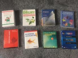 Various accounting and management textbooks