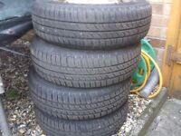 corsa b wheels and tyres